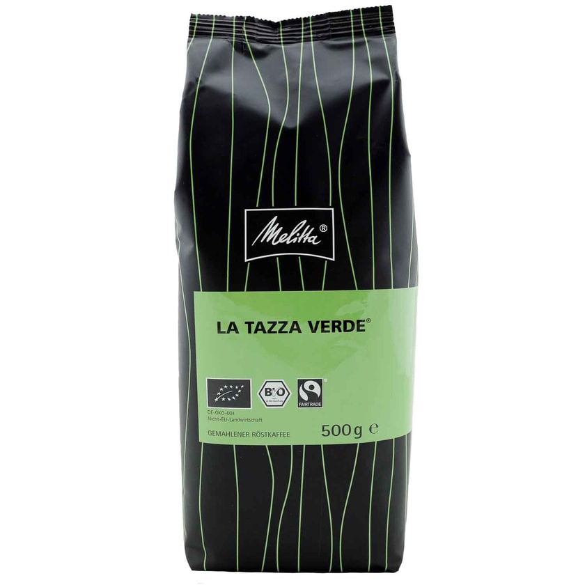 Melitta Bio Fairtrade Kaffee La Tazza Verde gemahlen 500g