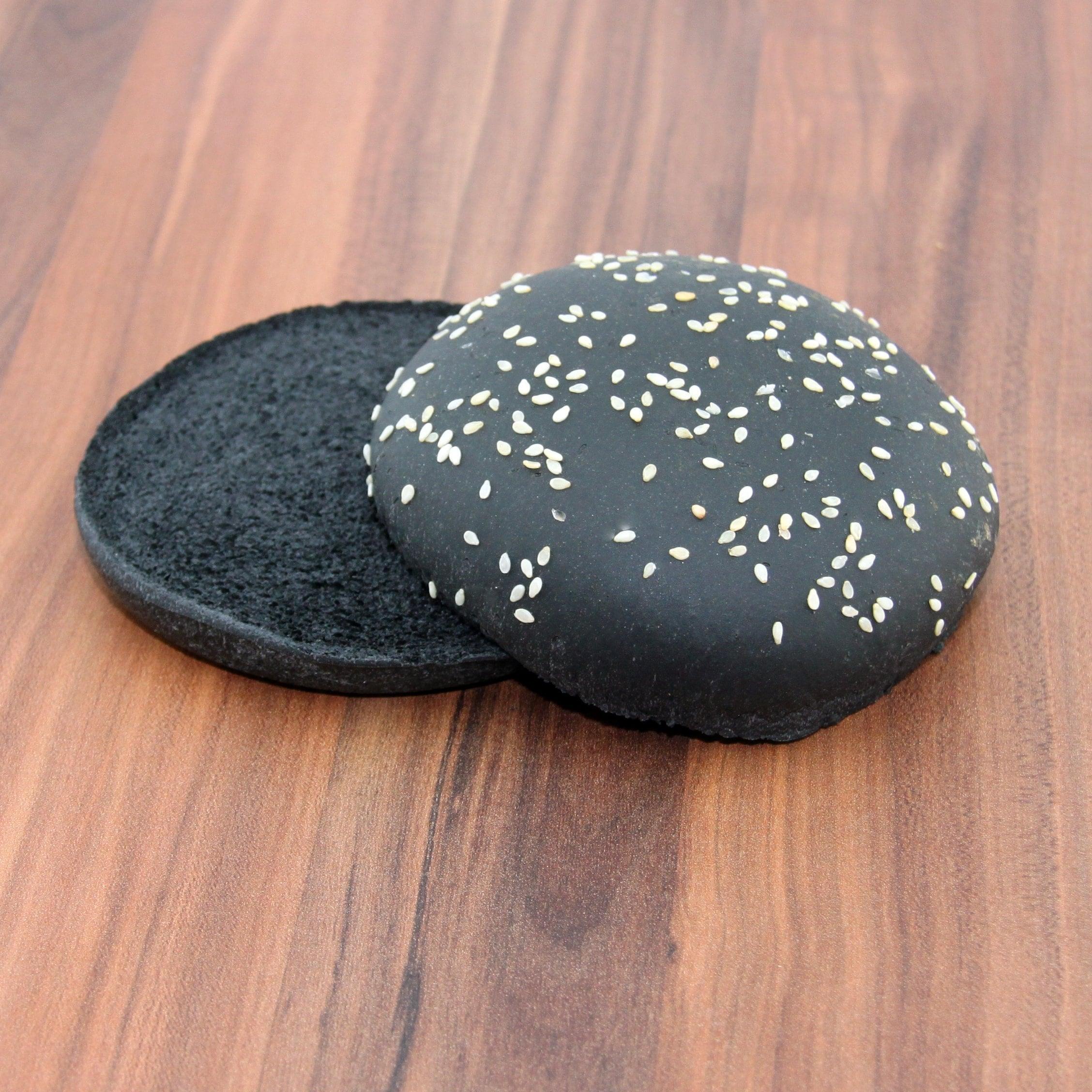 my-bakery Burgerbrötchen Schwarz 2 Stück