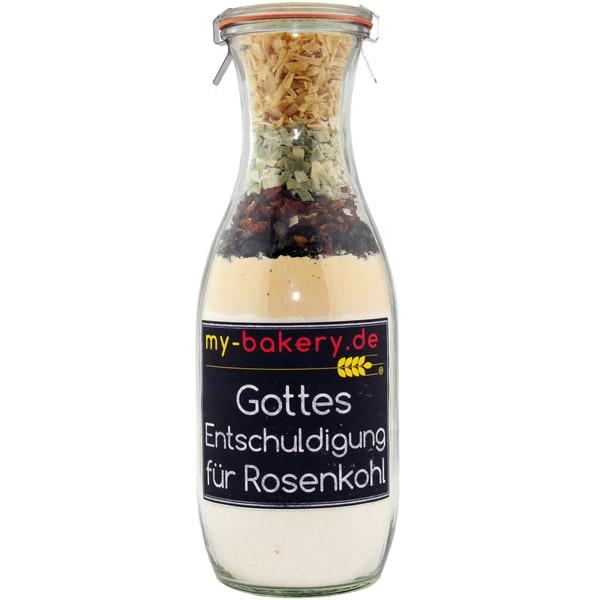 my-bakery Gottes Entschuldigung - Speck Tomaten Krustenbrot Backmischung im Glas 560g