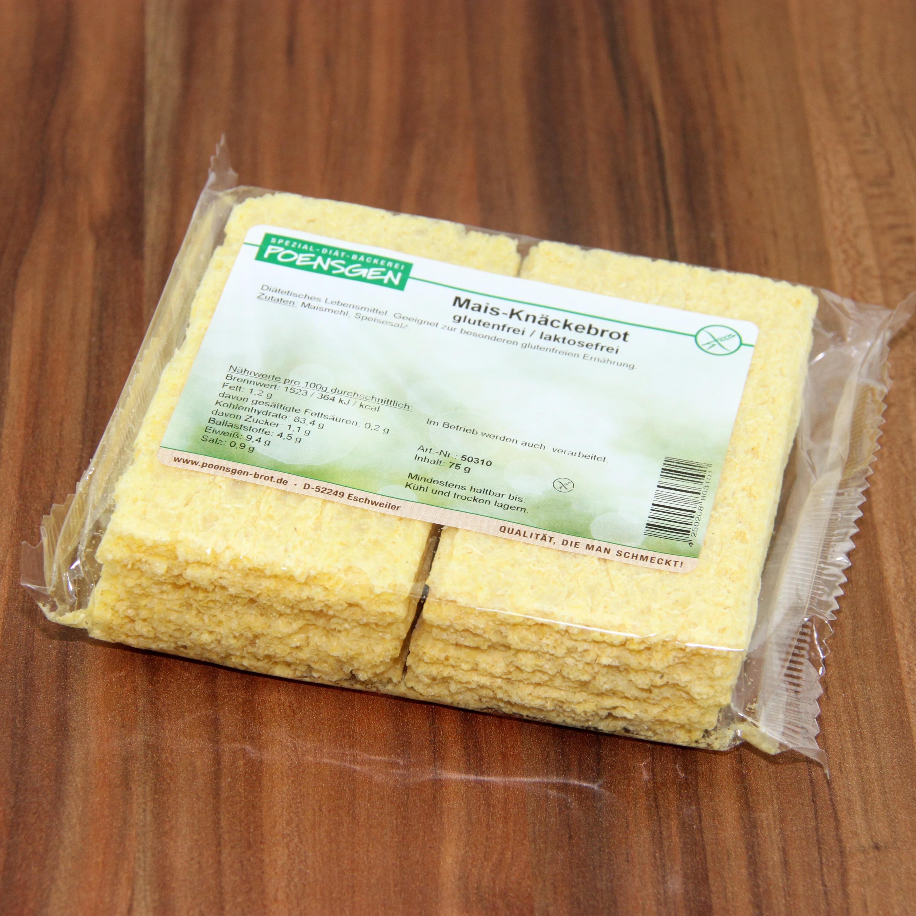 Poensgen Mais Knäckebrot Glutenfrei 75g