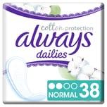 always Slipeinlage Cotton Protection Normal 38er Pack x 10, 380 St.