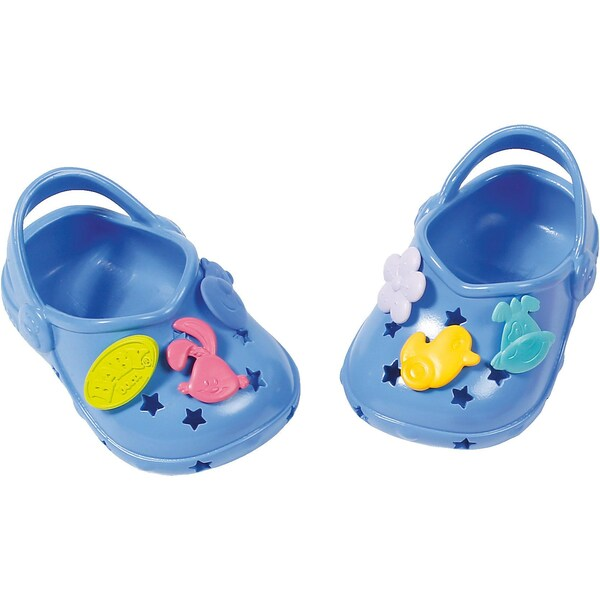 Zapf Creation Baby Born Clogs mit Pins Blau