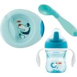 Chicco Geschenkset Mahlzeit light blue 3-tlg
