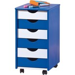 ABC Rollcontainer TITJE blauweiß