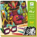 DJECO Filztifte - Lustige Monster 3D