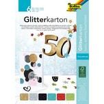Folia Glitterkarton-Block Basic 6 Blatt 174 X 245 cm
