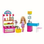 Mattel Barbie Chelsea Supermarkt-Spielset mit Puppe und Zubehör