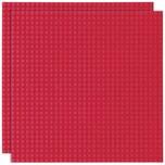 Basisplatte 32x32 Dunkel Rot Zweierpack