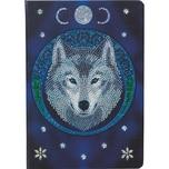 CRAFT Buddy Crystal Art Mondwolf Kristallkunst-Notizbuch ANNE STOKES