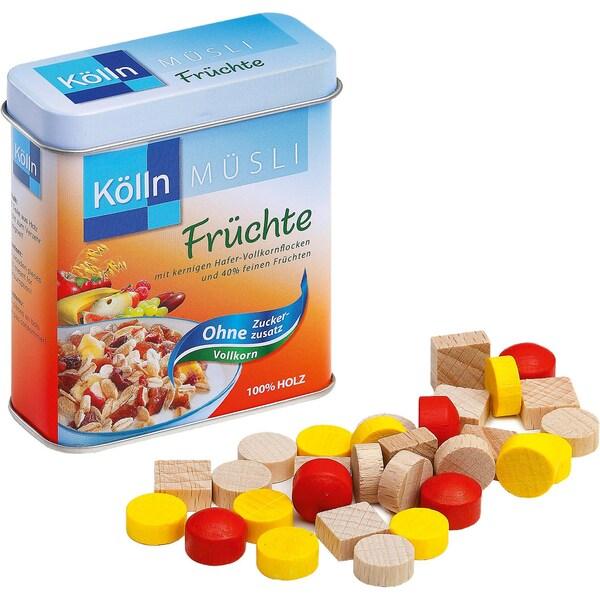 Erzi Spiellebensmittel Früchtemüsli von Kölln in der Dose