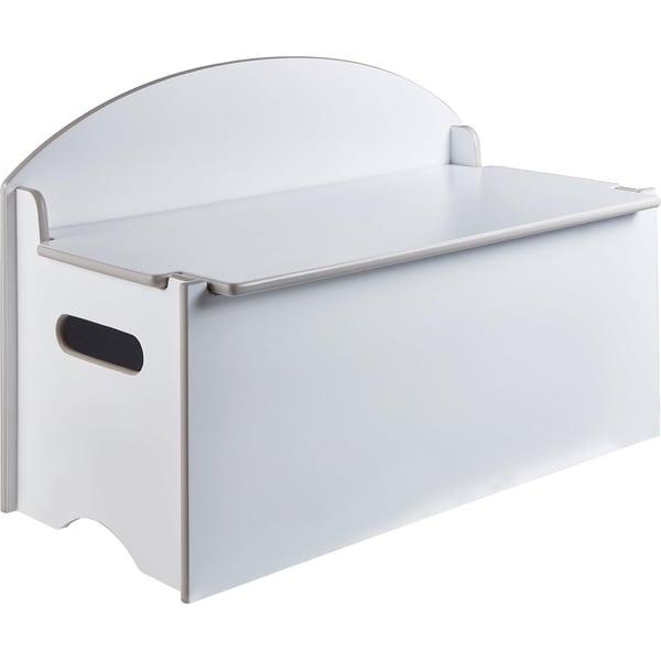 Spielzeug Truhe und Sitzbank de Luxe 2 in 1 weiß lackiert