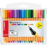 STABILO Fineliner point 88 Mini NEON 13 5 Farben