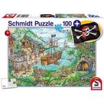 Schmidt Spiele In der Piratenbucht 100 Teile mit add on Piratenflagge