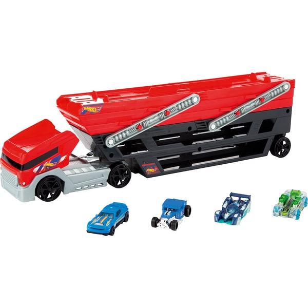 Mattel Hot Wheels Mega Truck inkl. 4 Die-Cast Fahrzeuge