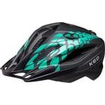 KED Helmsysteme Fahrradhelm Street Jr. pro black green matt
