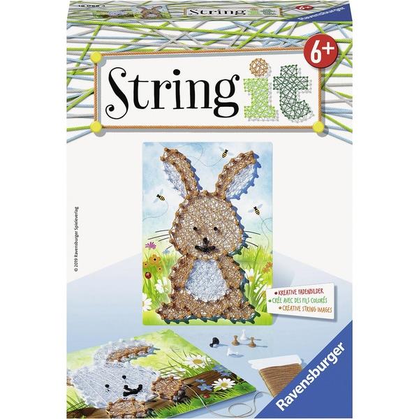 Ravensburger 2er-Set Faden-Bild String It Mini 16X22 cm Hasen