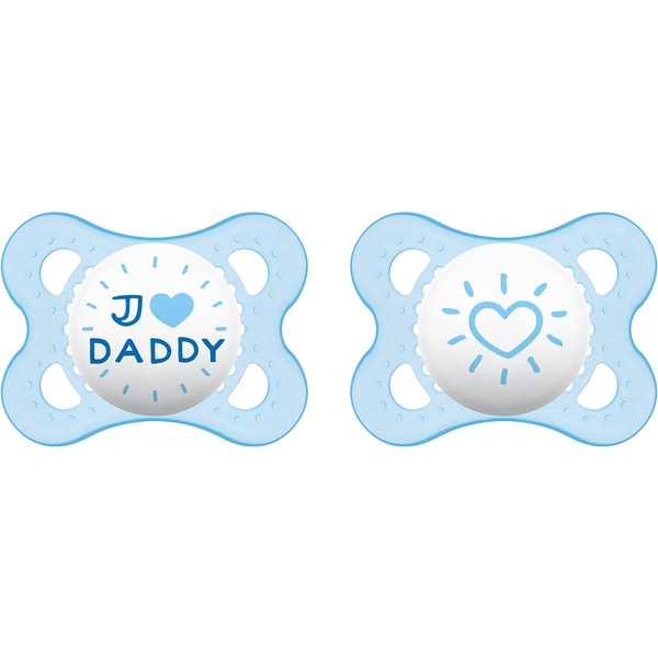 Mam Schnuller Original Silikon Gr. 1 I Love Daddy boy 2er Pack