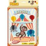 Hama Perlen 3442 Geschenkset Zirkus 2.000 Midi-Perlen Zubehör