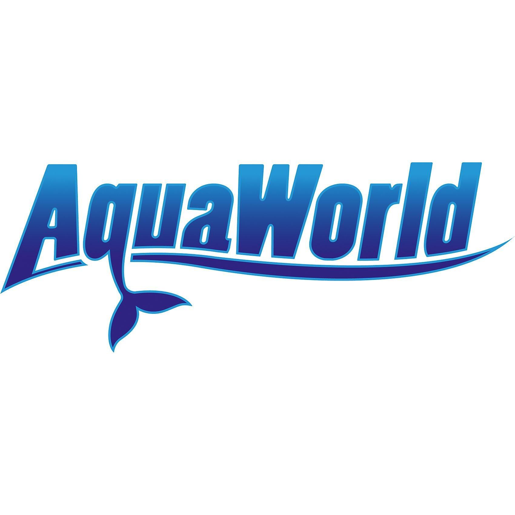 AquaWorld Tauchmaske Full Face Schnorchel Maske weiß-blau Größe S-M