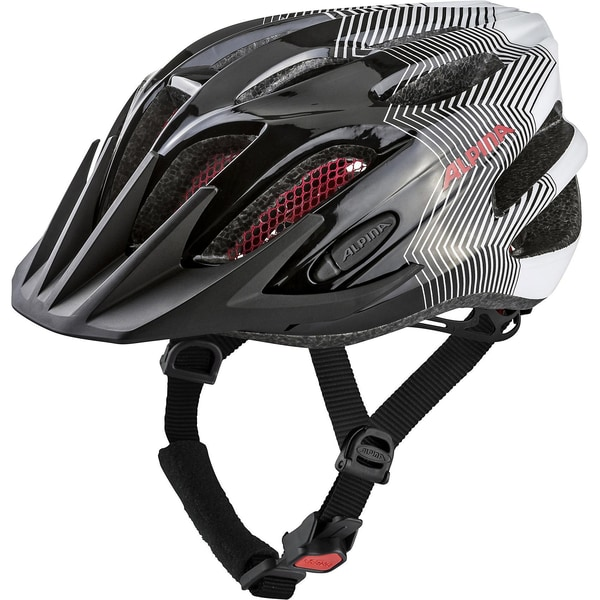 Alpina Fahrradhelm Fb Jr.Black-White-Red