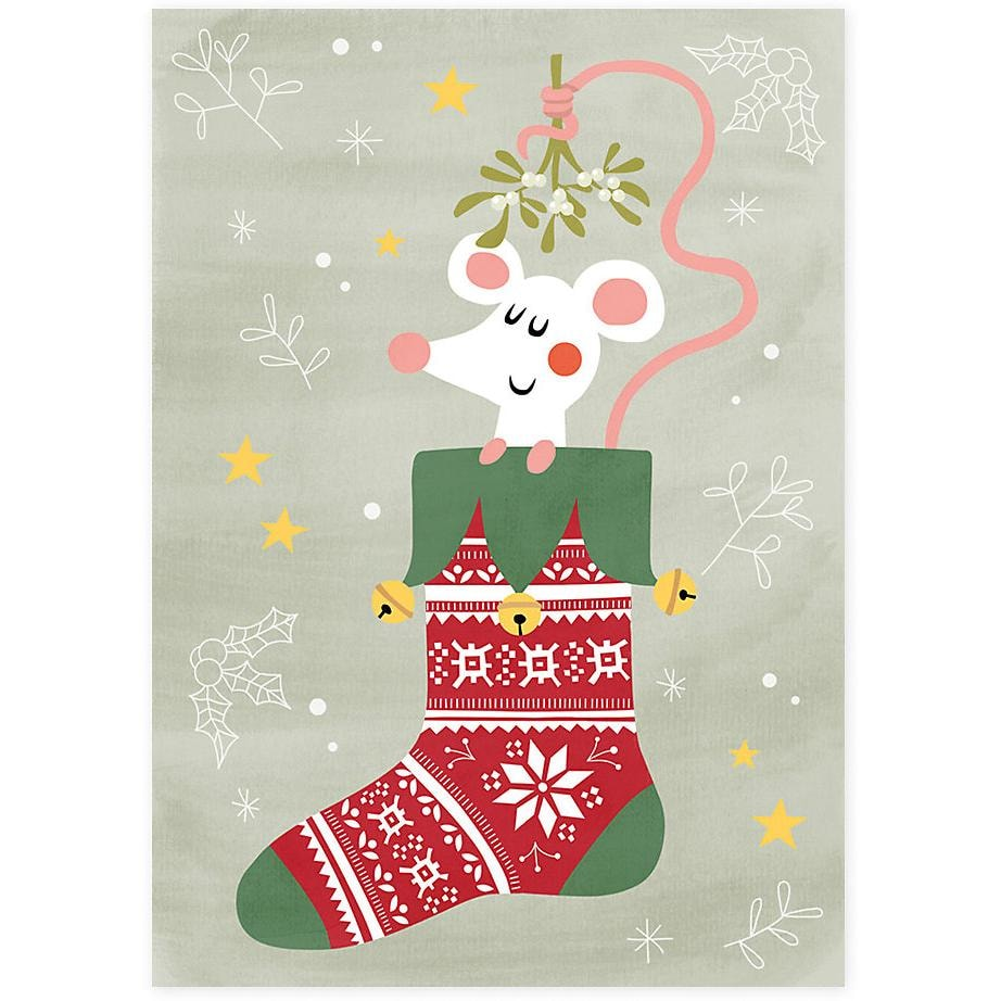 Grätz Verlag Weihnachtspostkarten Tiere 7 Stück