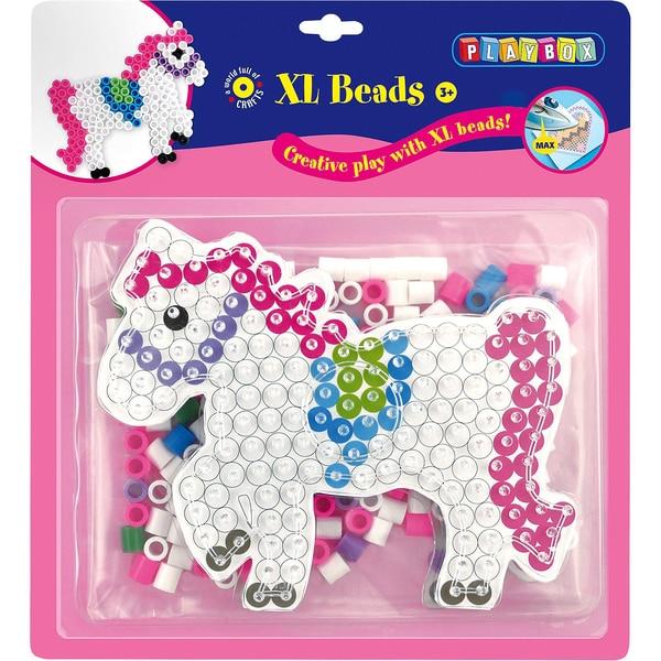 Playbox Xl-Bügelperlen Pferd 205 Perlen Steckplatte