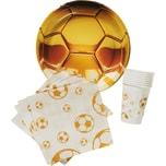 Procos Partyset Fußball Gold 31-tlg.