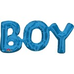 Amscan SuperShape™ Phrase BOY blau