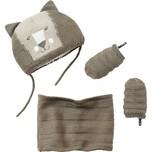 vertbaudet Baby Set Mütze Schlauchschal Handschuhe für Jungen