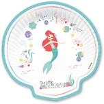 Procos Muschelförmige Pappteller Ariel under The Sea Premium 4 Stück