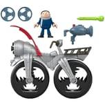 Mattel Imaginext Minions Gru mit Raketenrad Spielset