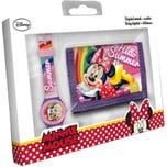 Geschenkset Geldbörse Armbanduhr Minnie Mouse
