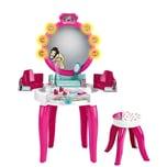 Klein Barbie® Schminktisch mit Hocker inkl. Zubehör - mit Licht Sound pink