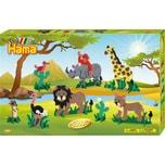 Hama Perlen 3041 Geschenkset Safari, 5.000 midi-Perlen & Zubehör