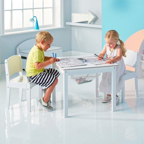 Kindersitzgruppe de Luxe 3-tlg. weiß lackiert