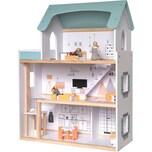 myToys Puppenhaus mit Möbel 3 Biegepuppen
