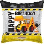 Karaloon Folienballon Happy Birthday Bagger