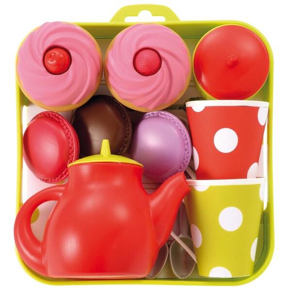 écoiffier Tee-Set Tablett mit Cupcakes Spielgeschirr