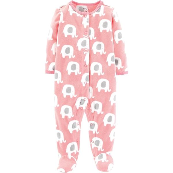 Carters Baby Fleece-Schlafanzug mit Elefanten für Mädchen