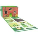 Spielzeugkiste mit Spielteppich Bauernhof
