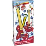 Bontempi Rock-Gitarre mit Standmikrofon
