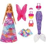 Mattel Barbie Dreamtopia 3-in1-Fantasie Spielset mit Puppe blond