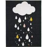 Kinderteppich Raindrops Black mehrfarbig 95 x 125 cm