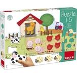 Goula Puzzle 1-5 mit Bauernhoftieren Aus Holz