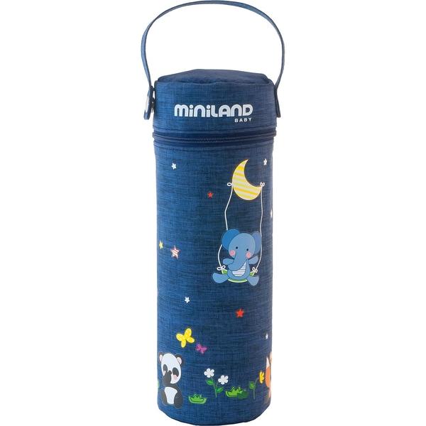 Miniland Babykostwärmer für Unterwegs Thermibag Denim blau