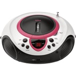 Lenco SCD-38 USB rosa - Boombox CD-MP3-Player mit Radio und USB-Anschluss