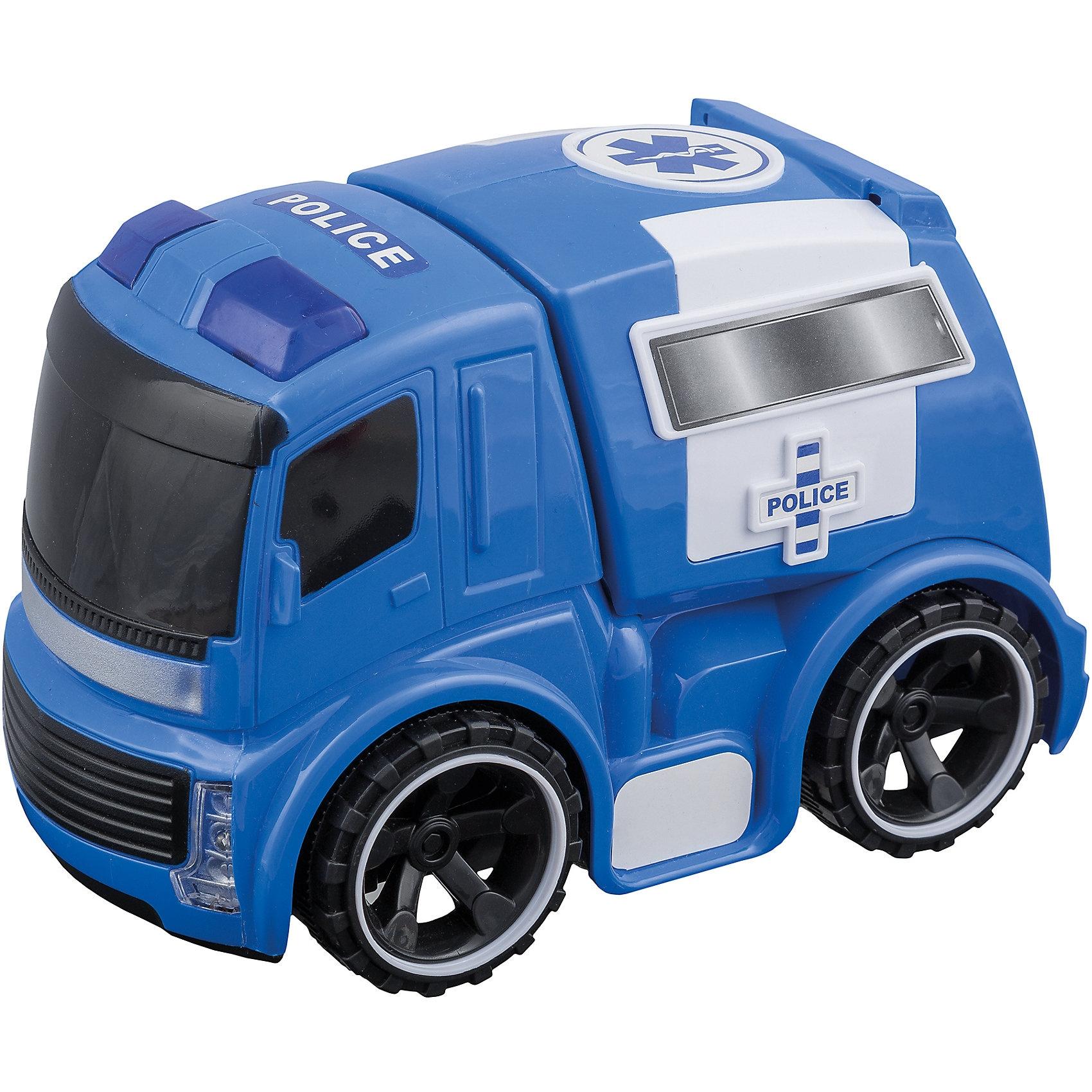 Idena Idena Polizeiwagen mit Antrieb Licht und Sound