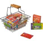 Beluga Metall Einkaufskorb inkl. Mini-Verpackungen Spiellebensmittel