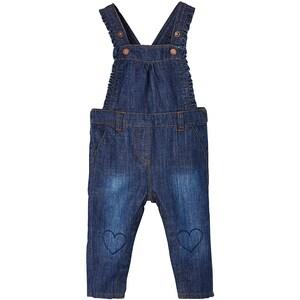 vertbaudet Baby Jeans Latzhose für Mädchen