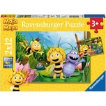Ravensburger 2er Set Puzzle je 12 Teile 26x18 cm Ausflug mit Biene Maja